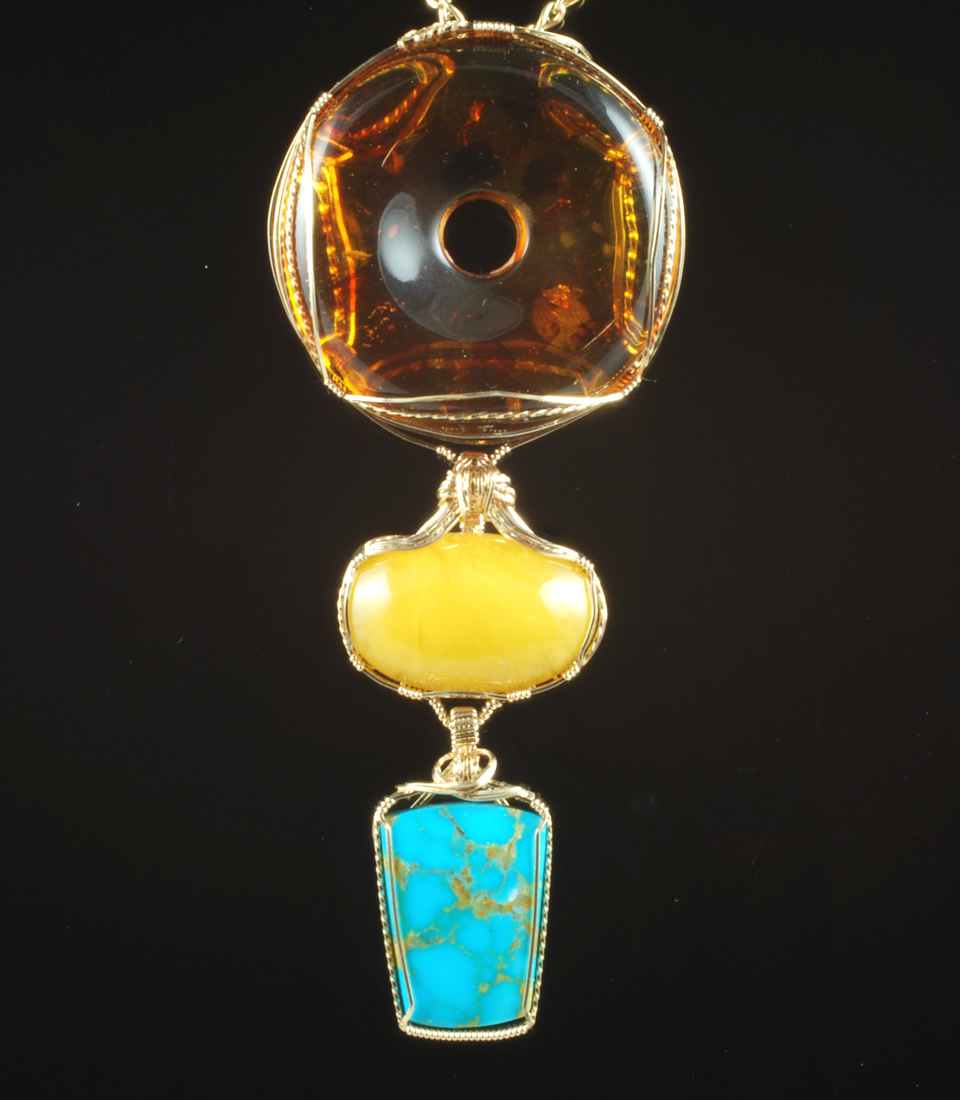 Amber 2 with Turquoise